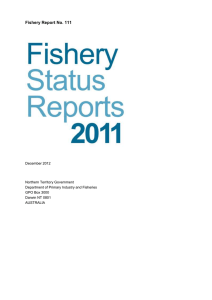 Fishery Status Reports 2011 - Northern Territory Government
