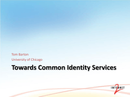 Identity Services for Open Source Software