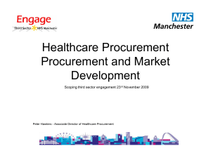 Healthcare Procurement and Market Development
