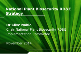 National Plant Biosecurity RD&E Strategy