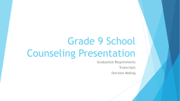 School Counseling Presentation