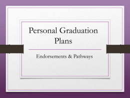 Current 9th Grade Personal Graduation Plan and