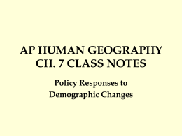 AP HUMAN GEOGRAPHY CH. 7 REVIEW