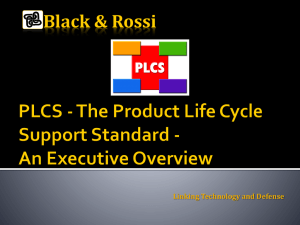 PLCS - The Product Life Cycle Support Standard
