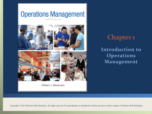 operations management - McGraw Hill Higher Education