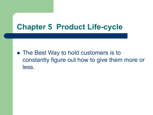 Chapter 5 Product Life
