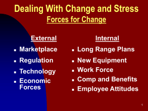 Dealing With Change and Stress Forces for Change