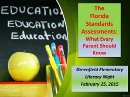 The Florida Standards Assessments