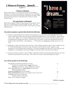 I Have a Dream… Speech - Springfield Public Schools