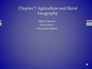 APHG Review - Agriculural and Rural Geography