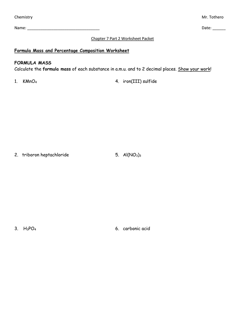 Empirical Formulas Worksheet – Calculating Work Worksheet