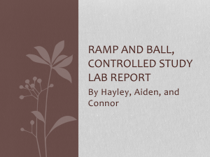Ramp and ball, controlled study lab report