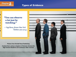 Types of Evidence - Henry County Schools