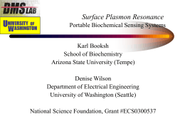 Surface Plasmon Resonance - Electrical Engineering