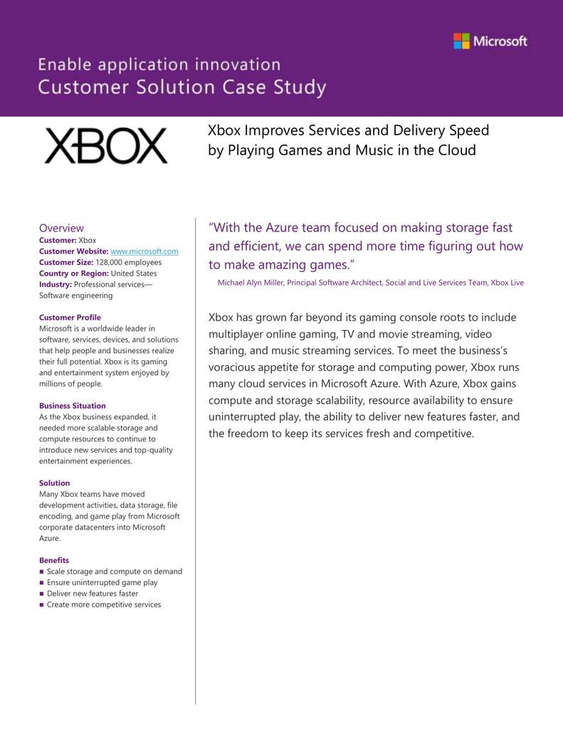 Xbox Case Study