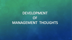 development of management thoughts