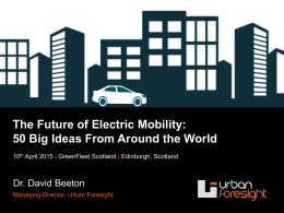 Future of EVs - GreenFleet Events