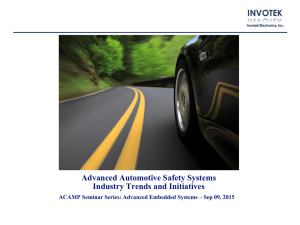 MIS Automotive Investor Overview May 8th, 2014