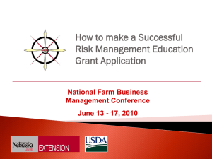 Risk Management Overview - National Ag Risk Education Library