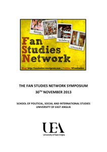 Fan Studies Network Symposium 2013