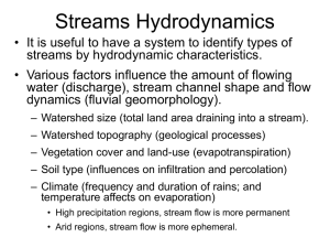 Stream Hydrodynamics