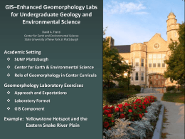 GIS-enhanced geomorphology labs for undergraduate geology and