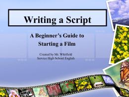 Writing a Script - Anchorage School District