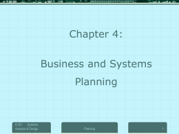 Business and Systems Planning