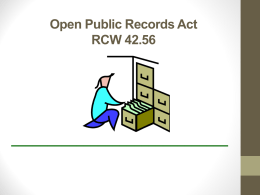 Open Public Records Act Presentation