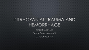 PULSE LECTURE_Nov 2_Intracranial Trauma and