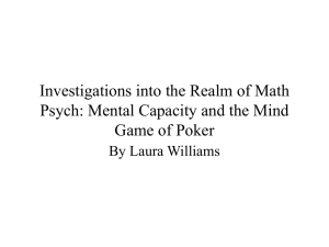 Investigations and Research in Mathematical Psychology