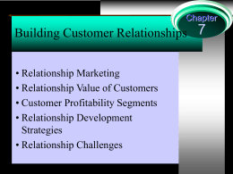 Relationship Marketing Chapter 6