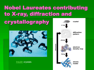 Nobel Laureates related to X-ray, diffraction and crystallography