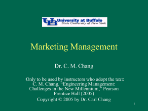 EAS 522 Chapter 5 - Marketing Management
