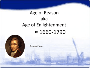 Age of Reason aka Age of Enlightenment