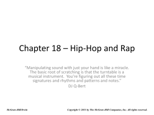 Chapter 18 – Hip-Hop and Rap - McGraw Hill Higher Education