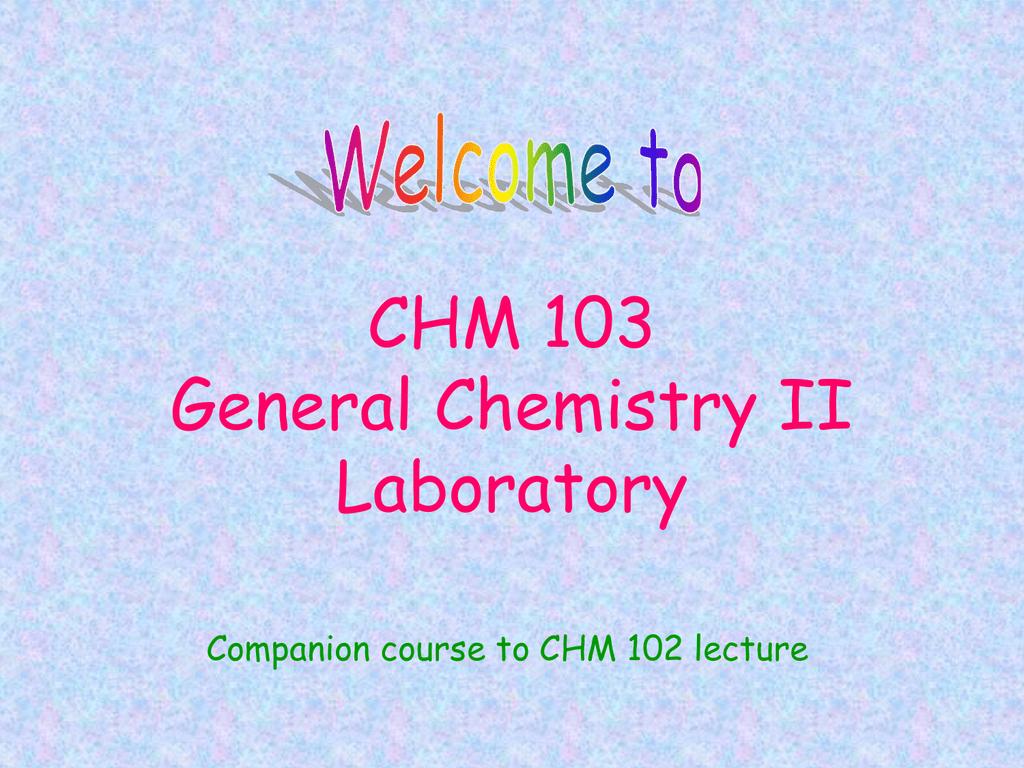 Chm 101 Pdf