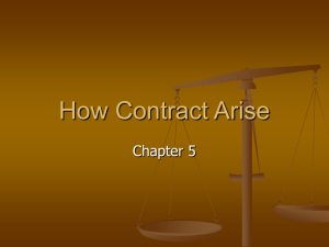 How Contract Arise