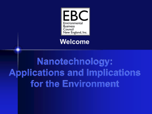 Nanotechnology - Environmental Business Council of New England