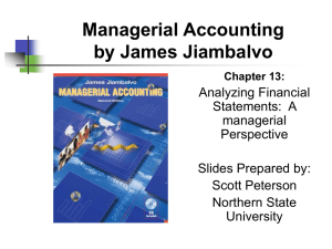 Chapter 13: Analyzing Financial Statements: A Managerial