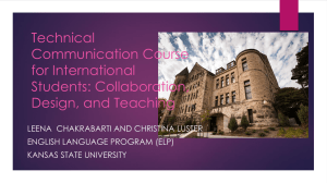 Technical Communication Course for International Students