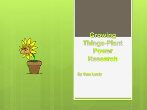 Growing Things-Plant Power Research
