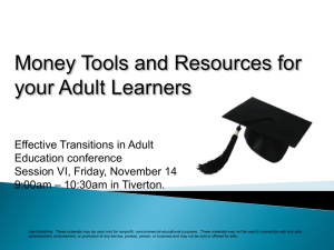 Financial Literacy for Your Adult Learners