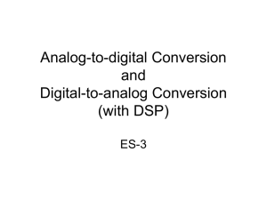 Analog-to-digital Conversion Digital-to