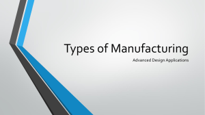 Types of Manufacturing Presentation