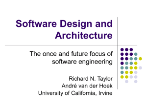 Software Design and Architecture - University of California, Irvine