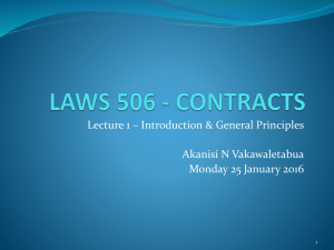 LAWS 506 - CONTRACTS