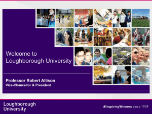 Welcome to Loughborough - Loughborough University