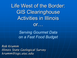 Illinois State Geological Survey Web-Based Resources