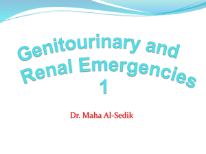 Genitourinary and Renal Emergencies 1